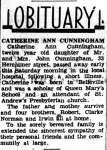 Cunningham, Catherine Ann (Died)