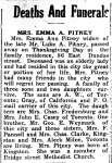 Pitney, Emma Ann (Died)