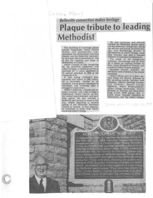Plaque tribute to leading Methodist