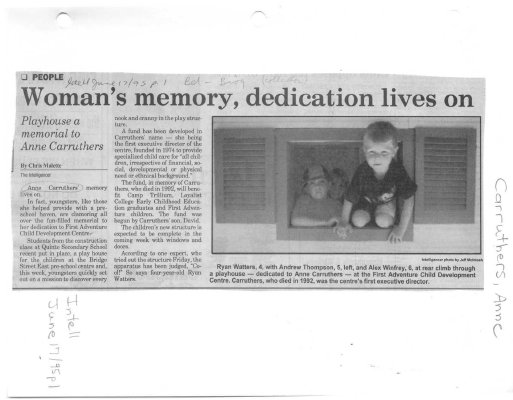 Woman's memory, dedication lives on