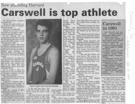Carswell is top athlete