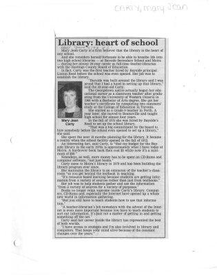 Library: heart of school