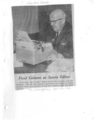 Final Column as Sports Editor