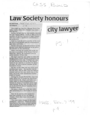 Law Society honours city lawyer