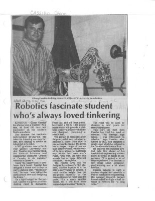 Robotics fascinate student who's always loved tinkering