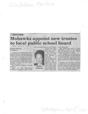 Mohawks appoint new trustee to local public school board