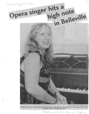 Opera singer hits a high note in Belleville