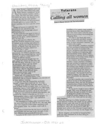 Veterans: Calling all women