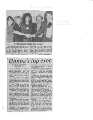 Donna's top exec