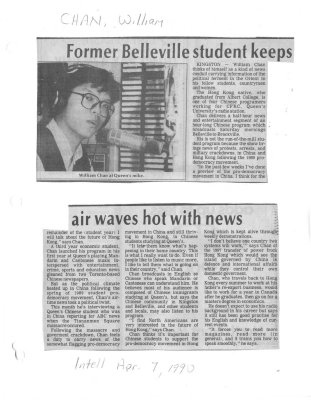 Former Belleville student keeps air waves hot with news