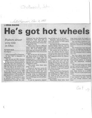 He's got hot wheels