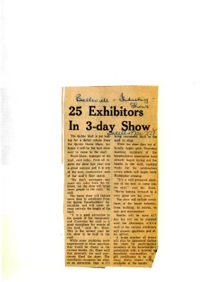 25 Exhibitors In 3-day Show