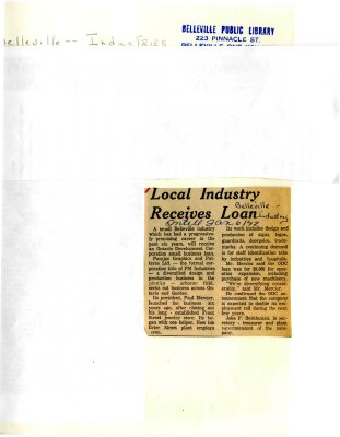 Local Industry Receives Loan