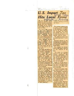 U.S. Import Tax Hits Local Firms