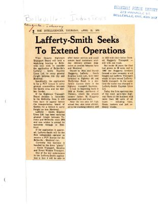 Lafferty-Smith Seeks To Extend Operations