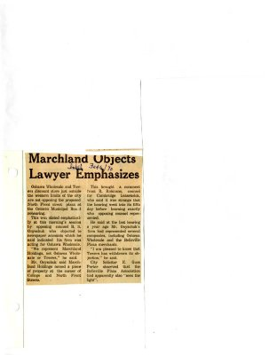 Marchland Objects Lawyer Emphasizes