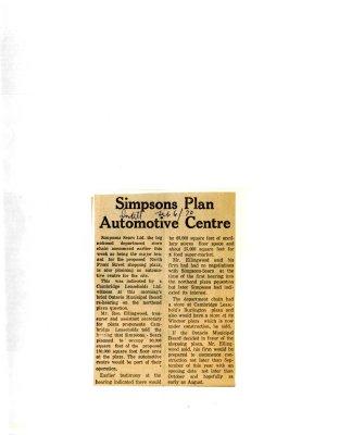 Simpsons Plan Automotice Centre