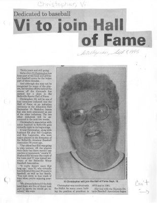 Vi to join Hall of Fame