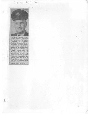 "Flight Lieutenant W. C. ""Bill"" Clark"