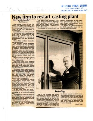 New firm to restart casting plant