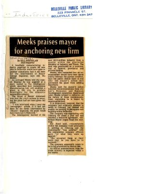 Meeks praises mayor for anchoring new firm