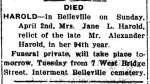 Harold, Jane (Died)