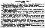 Yorke, Agnes Helen (née Marner) (Died)