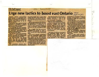Urge new tactics to boost east Ontario