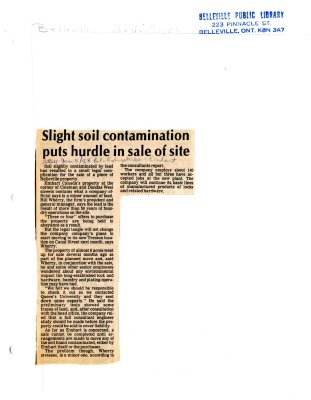 Slight soil contamination puts hurdle in sale of site