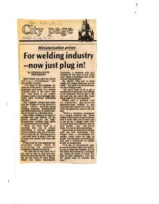 For welding industry -- now just plug in!