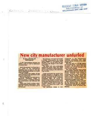 New city manufacturer unfurled