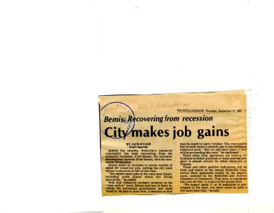 City makes job gains
