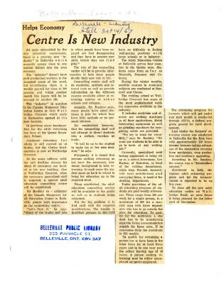 Centre Is New Industry