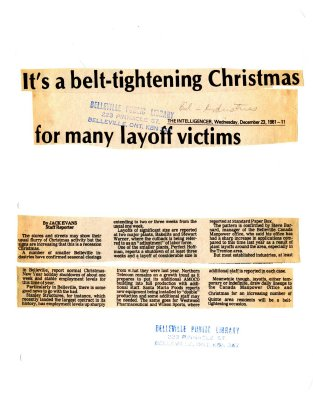 It's a belt-tightening Christmas for many layoff victims
