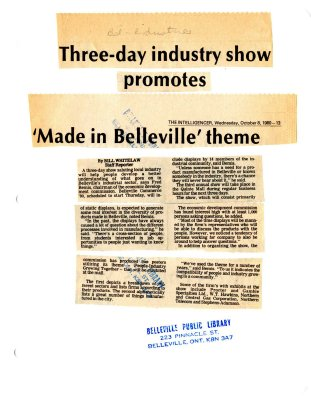 Three-day industry show promotes 'Made in Belleville' theme
