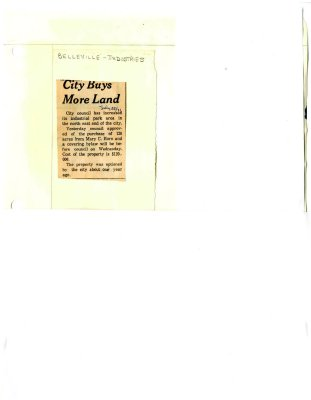 City Buys More Land
