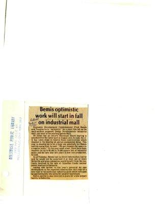 Bemis optimistic work will start in fall on industrial mall