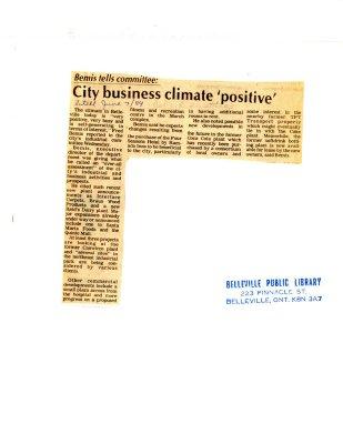 City business climate 'positive'