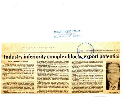 Industry inferiority complex blocks export potential