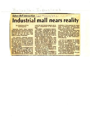 Industrial mall nears reality