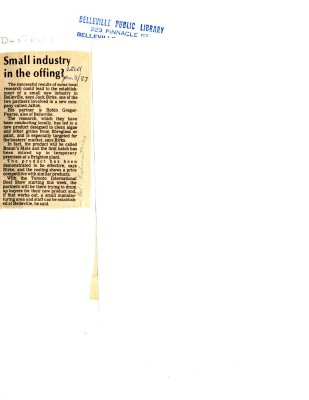 Small industry in the offing?
