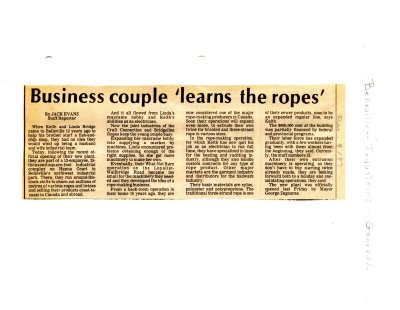 Business couple 'leans the ropes'