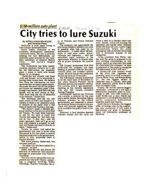 City tries to lure Suzuki