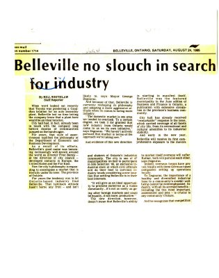 Belleville no slouch in search for industry