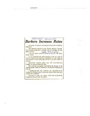 Barbers Increase Rates