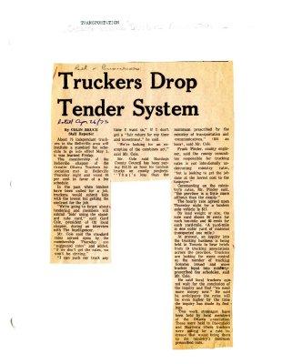 Truckers Drop Tender System
