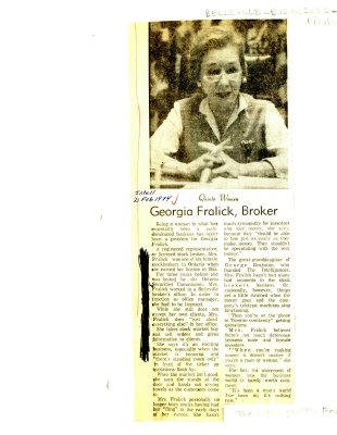 Georgia Fralick, Broker