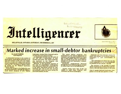 Marked increase in small-debtor bankruptcies