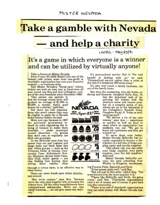 Take a gamble with Nevada - and help a charity