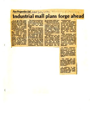 Industrial mall plans forge ahead